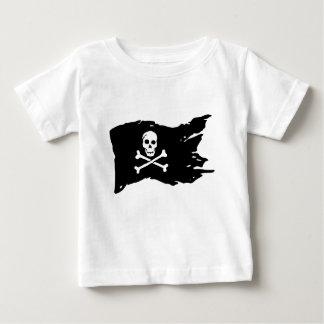 Camiseta Para Bebê Bandeira de pirata