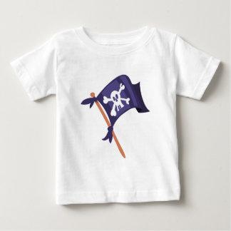 Camiseta Para Bebê Bandeira de pirata de Piratenfahne