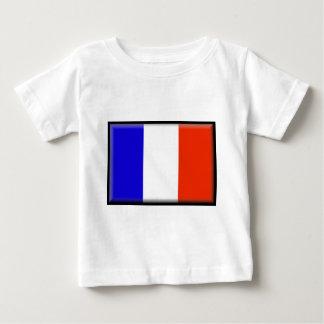 Camiseta Para Bebê Bandeira de Reunion Island