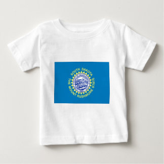 Camiseta Para Bebê Bandeira de South Dakota