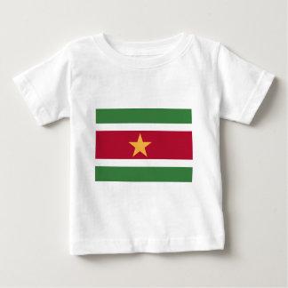 Camiseta Para Bebê Bandeira de Suriname