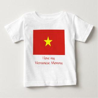 Camiseta Para Bebê Bandeira de Vietnam