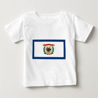 Camiseta Para Bebê Bandeira de West Virginia
