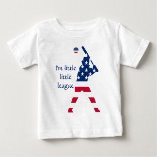 Camiseta Para Bebê Bandeira do americano do basebol de América