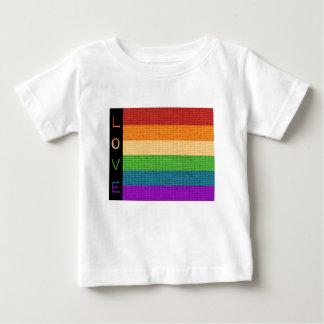 Camiseta Para Bebê Bandeira do amor