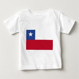 Camiseta Para Bebê Bandeira do Chile