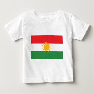 Camiseta Para Bebê Bandeira do Curdistão; Curdo; Curdo