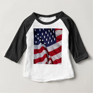Camiseta Para Bebê Bandeira dos Estados Unidos da América