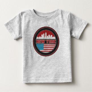 Camiseta Para Bebê Bandeira dos Estados Unidos da skyline | de New