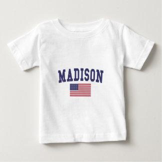 Camiseta Para Bebê Bandeira dos WI E.U. de Madison