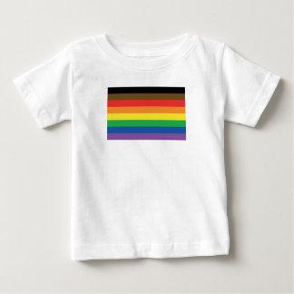 Camiseta Para Bebê Bandeira expandida LGBT customizável do arco-íris