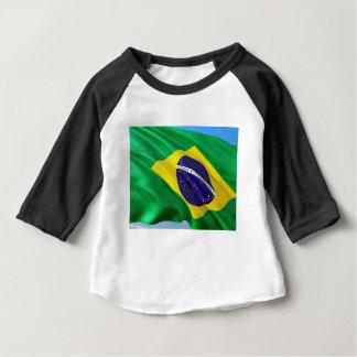 Camiseta Para Bebê Bandeira internacional Brasil