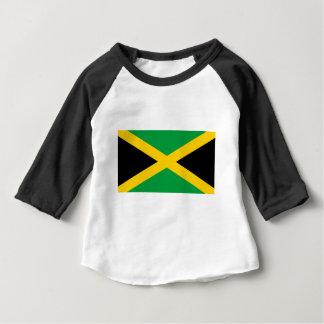 Camiseta Para Bebê Bandeira jamaicana