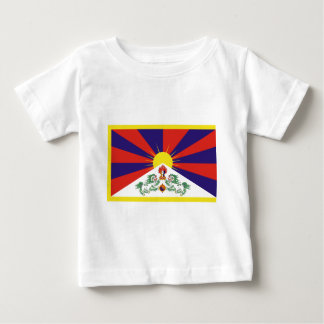 Camiseta Para Bebê Bandeira livre de Tibet - ་ do བཙན do ་ do རང do ་
