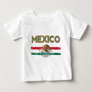 Camiseta Para Bebê Bandeira mexicana de México