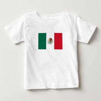 Camiseta Para Bebê Bandeira mexicana patriótica