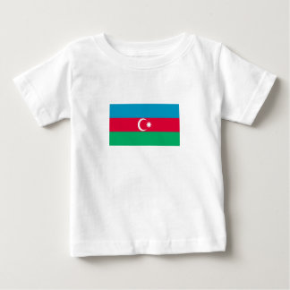 Camiseta Para Bebê Bandeira patriótica de Azerbaijan
