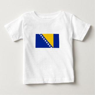 Camiseta Para Bebê Bandeira patriótica de Bósnia - de Herzegovina
