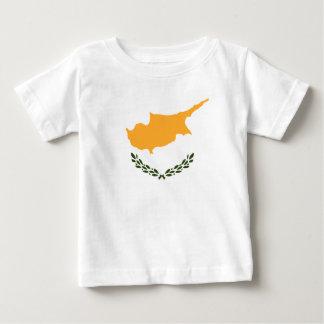 Camiseta Para Bebê Bandeira patriótica de Chipre