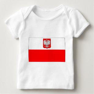 cfe9f76bce Camiseta Para Bebê Bandeira polonesa com Eagle