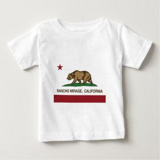 Camiseta Para Bebê bandeira Rancho Mirage do estado de Califórnia