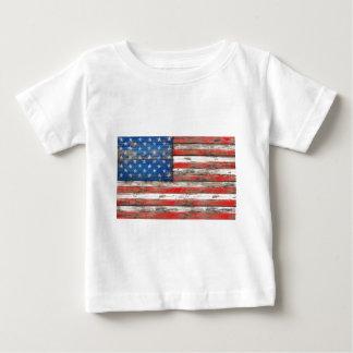 Camiseta Para Bebê Bandeira referente à cultura norte-americana