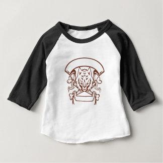Camiseta Para Bebê Bandeira transversal dos ossos do lobo retro