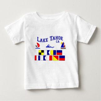 Camiseta Para Bebê Bandeiras de sinal de Lake Tahoe CA