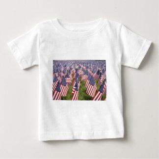 Camiseta Para Bebê Bandeiras do Memorial Day