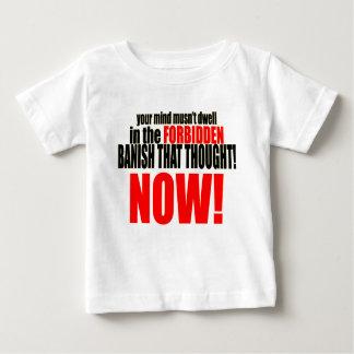 Camiseta Para Bebê banish relações proibidas da interrupção do musnt