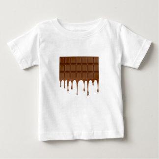 Camiseta Para Bebê Bar de chocolate derretido