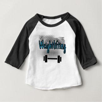 Camiseta Para Bebê Bar do halterofilismo