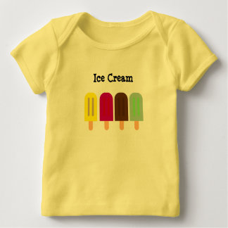 Camiseta Para Bebê Bar do sorvete