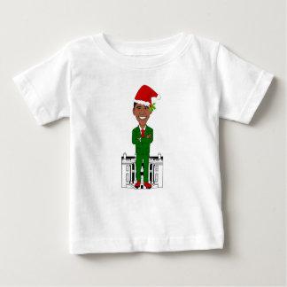Camiseta Para Bebê Barack Obama Papai Noel
