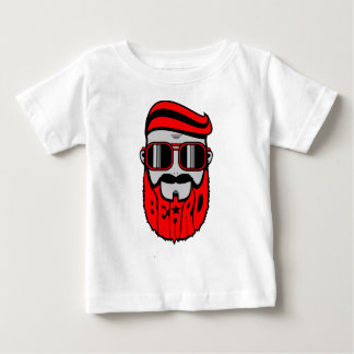 Camiseta Para Bebê barba vermelha
