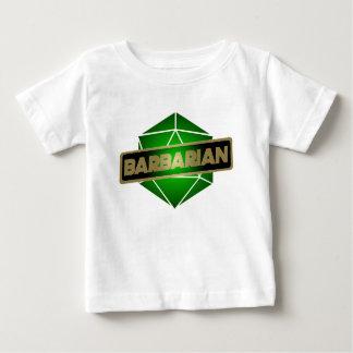 Camiseta Para Bebê Bárbaro da estrela D20