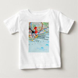 Camiseta Para Bebê Barcelona, espanha