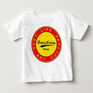 Camiseta Para Bebê Barcelona, Spain, red circle, art