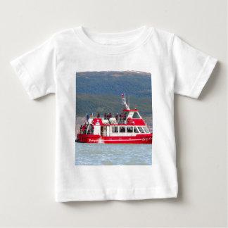 Camiseta Para Bebê Barco no cinza de Lago, Patagonia, o Chile