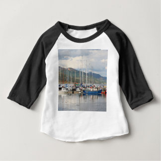 Camiseta Para Bebê Barcos em Kyleakin, ilha de Skye, Scotland