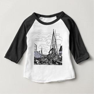 Camiseta Para Bebê barcos no mar