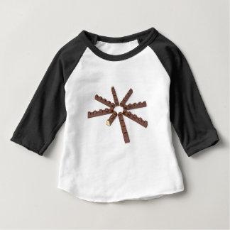 Camiseta Para Bebê Bares de chocolate do leite
