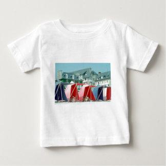 Camiseta Para Bebê Barracas na praia em Brittany, France