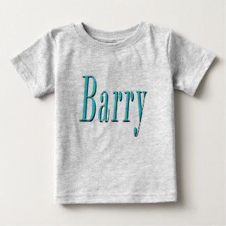 Camiseta Para Bebê Barry, nome, logotipo azul,