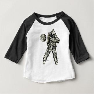 Camiseta Para Bebê Basebol do espaço
