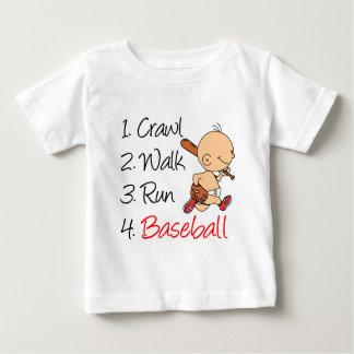 Camiseta Para Bebê Basebol do funcionamento da caminhada do