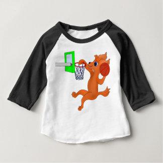 Camiseta Para Bebê Basquetebol feliz pelos Feliz Juul Empresa