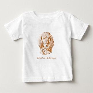 Camiseta Para Bebê Basset Fauve de Bretagne