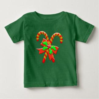 Camiseta Para Bebê Bastões do Natal