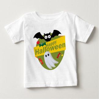 Camiseta Para Bebê Bastões e fantasmas felizes do Dia das Bruxas